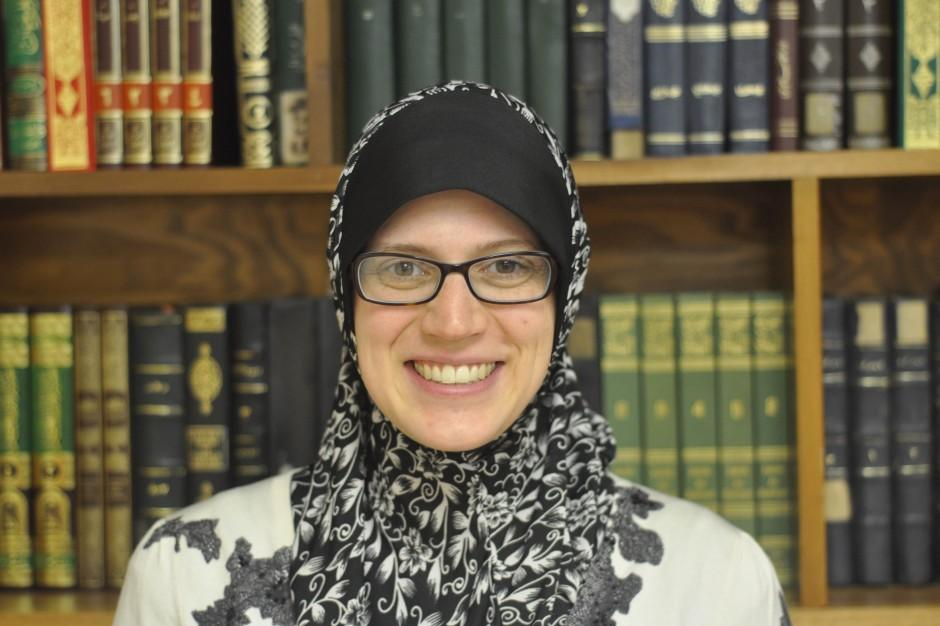 Anna Maidi, women's president of the Islamic Center and founder of the Openhearted Campaign, poses for a portrait.