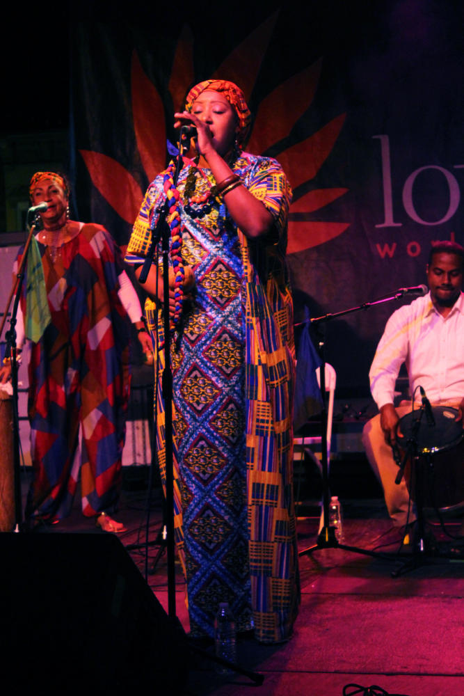Betsayda Machado sings during her performance with the Afro-Venezuelan band La Parranda el Clavo.