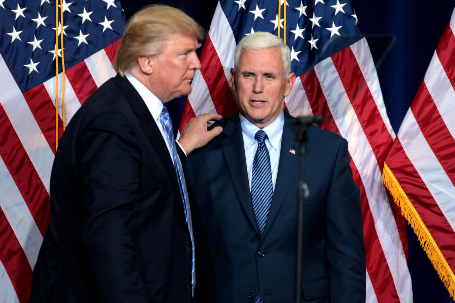 President Donald Trump and Vice President Mike Pence campaign for Republican candidate Mike Braun in his race to unseat Sen. Joe Donnelly.