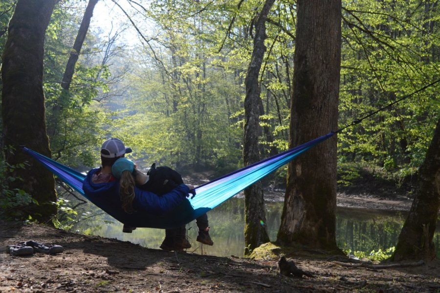 Hammocking with your significant other can be a great way to spend an afternoon outside. ENO