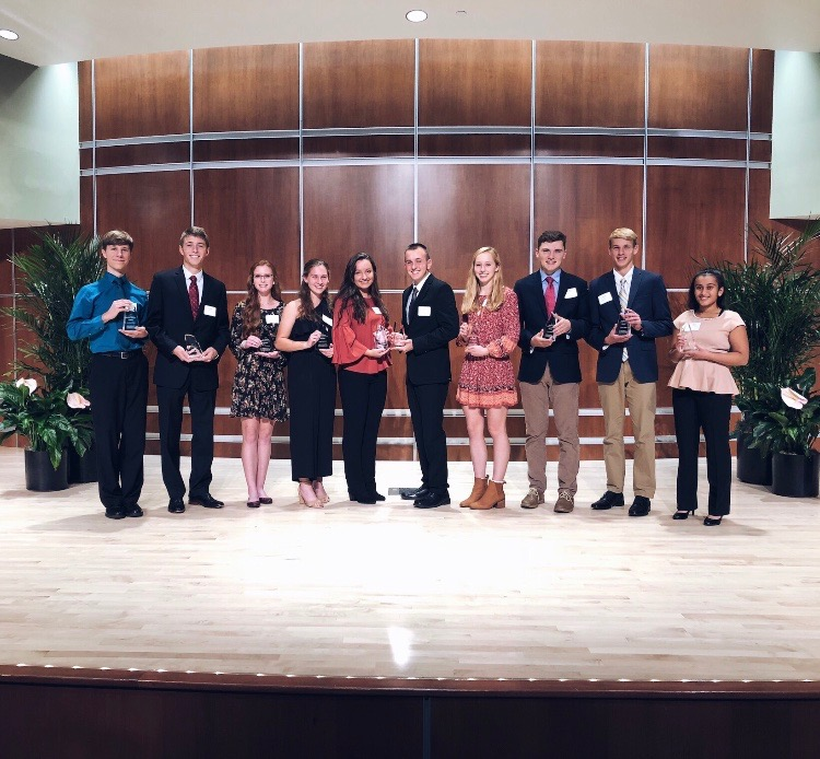The top ten finalists for the Lilly Endowment scholarship were honored during a ceremony at Ivy Tech Community College in Bloomington